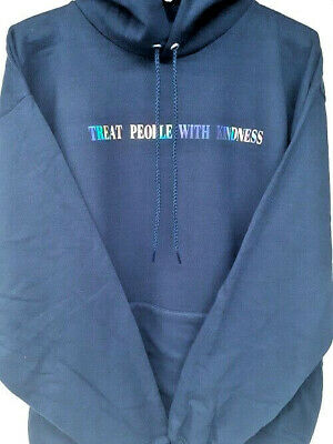 Harry Styles Treat People With Kindness Navy Blue Hoodie Medium *NEW*