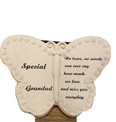 In Loving Memory ~ Graveside 23cm butterfly Memorial Ornament - special grandad