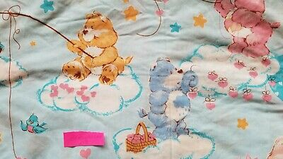 Care Bears Light Blue Twin Fitted Sheet 70/30 polyester/cotton