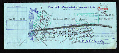 A1692 - 1942 Pure Gold Manufacturing Co - Toronto, Ontario