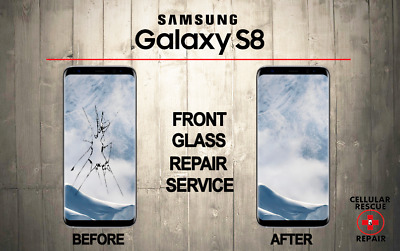 Samsung Galaxy S8 Cracked Front Glass Repair Replacement Mail In Service