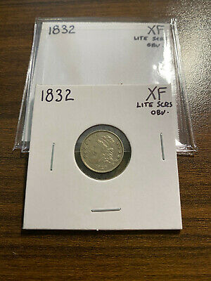 1832-P Capped Bust Silver Half Dime H10C 5C EXTRA FINE XF Cleaned Lite Scratches