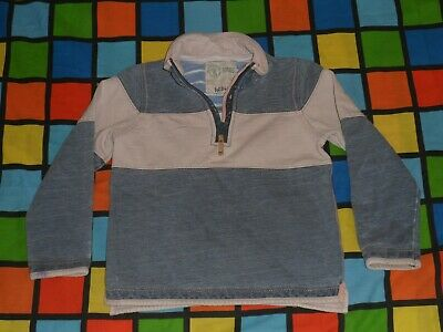 FAT FACE Zip Neck Grey Pink Sweater Age 6-7 Years. Not Hoodie Hoody