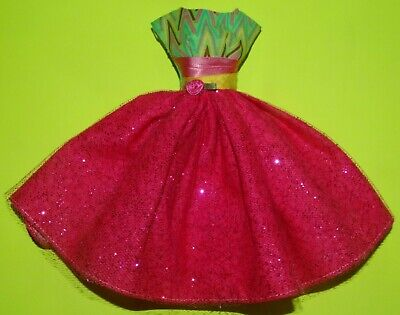 Sparkle & pink  Dress For Barbie Vintage Doll Reproduction Repro, ooak, new