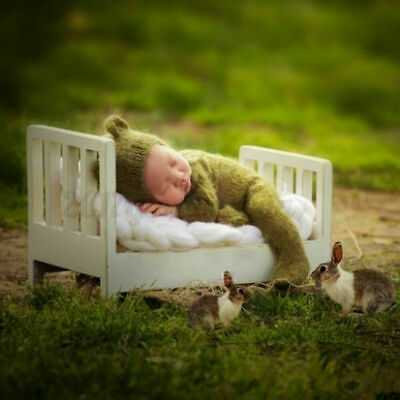 Mini Wood Newborn Baby Bed Detachable Wooden Photography Photo Props For  U