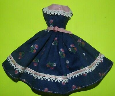 Blue & Pink  Dress For Barbie Vintage Doll Reproduction Repro, ooak, new