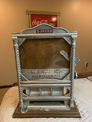Royal Bell 3 Jacks Trade Stimulator 10 cent Machine, Coin Operated!!
