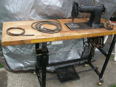 Antique Factory Singer Sewing  Model No. 61  Machine and Table Serial # 487838