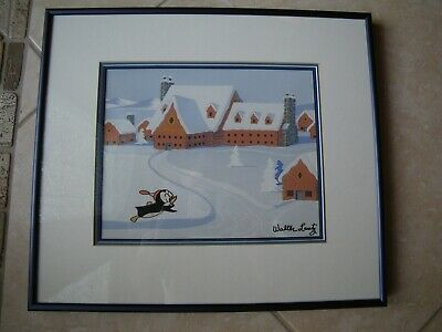 HAND-PAINTED and HAND-INKED Production Cel Walter Lantz Signed Chilly Willy!!