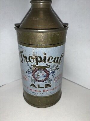 RARE TROPICAL ALE Cone top Beer Can From TAMPA Florida Circa 1940's