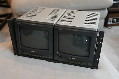 "Sony PVM-8220  Dual 8"" Monitors + Rack Mount"
