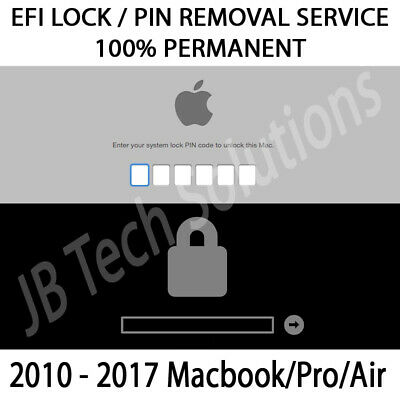 Apple Macbook Pro Air 2010-2017 EFI Firmware Lock / Pin removal service - FAST!