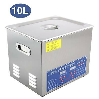 10L Digital Ultrasonic Cleaner Timer Heat Ultra Sonic Cleaning UK