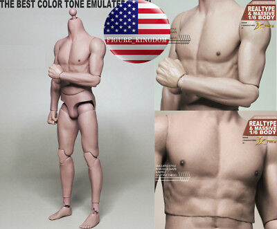 "1/6 Scale Emulated Male Muscular Body JXToys JXS01 NARROW SHOULDER 12"" Figure"