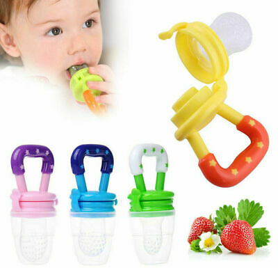 Baby Feeding Dummy Nibbles Weaning Nutrition Pacifier Fresh Food Fruit Feeder UK