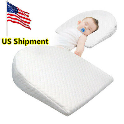 Newborn Anti-Spit Milk Wedge Pillow Infant Reflux Sleeping Memory Foam Pillow US