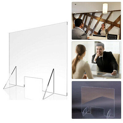 Sneeze Guard Screen Protective Acrylic Safety Cover with Hatch 400 x 400MM