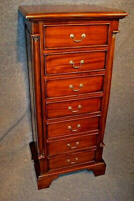 Solid Mahogany 7 Drawer Chest Of Drawers.