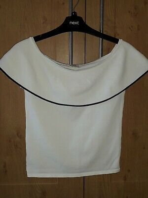Girls River Island White Bardot Top Age 11-12