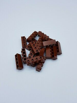 Lego Lot 20 X Brique 1X4 With 4 Knobs  Reddish Brown Ref 30414 / 6153594 *Neuf*