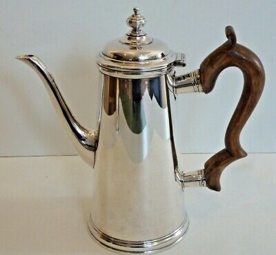 Handsome Sterling Lighthouse Coffee Pot By Ensko Ny, Reproduction Of 1742 Form