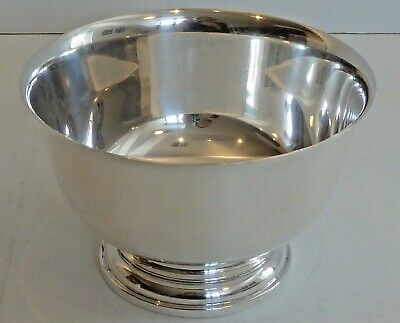 """Cartier Sterling Silver Small """"Paul Revere Reproduction"""" Bowl, Engraved """"G"""""""