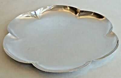 "Cartier Sterling ""Hand Made"" Six-Lobed Plate"