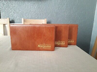 Nostalgia Card Albums (3) With a total of 30 Inserts with 6 slots per page.