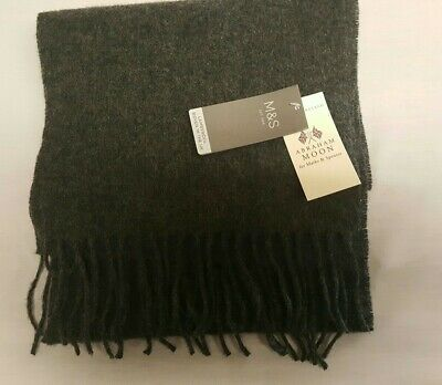 Lambswool made in England RRP £25 navy mix M/&S NEW BNWT Marks and Spencer Scarf
