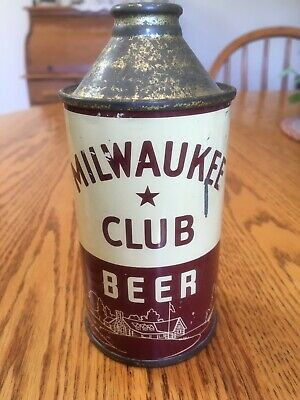 MILWAUKEE CLUB IRTP Cone Top Beer Can, Schlitz Brewing Co. Milwaukee, WI