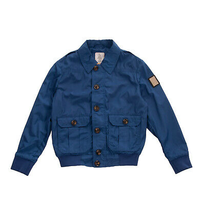 RRP €285 REFRIGUE Bomber Style Jacket Size 8Y Unlined Metal Logo Collared