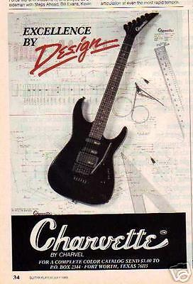 1989 Excellence By Design Charvette Guitar Ad