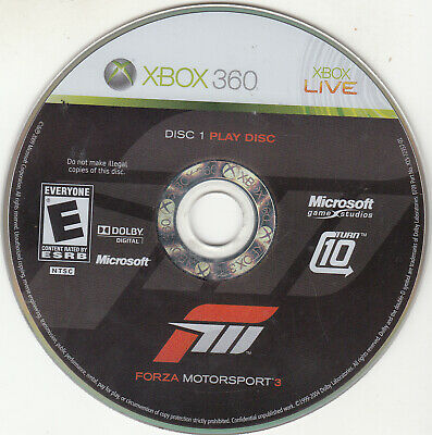 Forza Motorsport 3 (Microsoft Xbox 360, 2009) DISC 1 ONLY