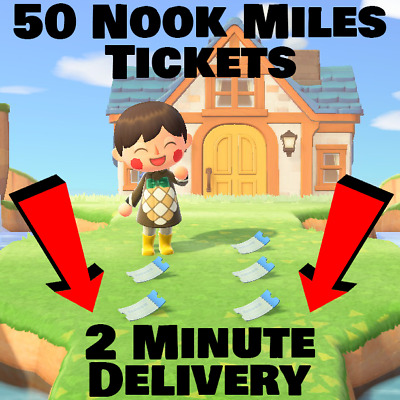 50 Nook Miles Tickets🔥SUPER FAST delivery🔥ACNH ONLINE NOW