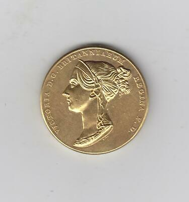 Stunning Mystery 1838 Victoria Gold Coloured Coin/Medallion, 35.5mm, 27.15gms