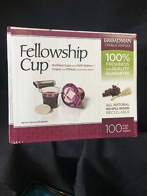 Communion Set - Prefilled Fellowship Cup Juice / Wafer-100 Sets Lords Supper