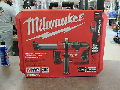 New Milwaukee Model 2306-22 M12 Hammervac Universal Dust Extractor Kit