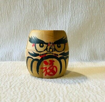 Japanese Handcrafted Wooden Art Daruma Doll 12 Pieces Wood Block Puzzle