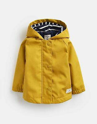 Joules Baby Girls Coast Raincoat - ANTIQUE GOLD Size 0m-3m