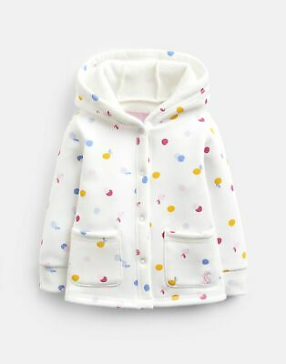 Joules Baby Girls Reed Sweatshirt Jacket - CREAM Green SPOT Size 3m-6m