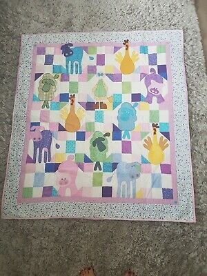 Kids Farm Animal Wall Quilt. Hand crafted Exclnt condition