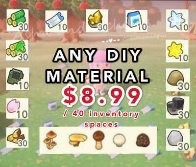 ANY MATERIAL DELIVERED Star Fragment Mushroom etc Animal Crossing New Horizons