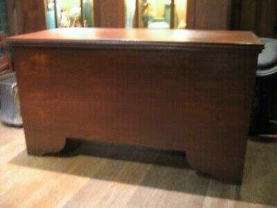 1800s ANTIQUE BLANKET / GRAIN CHEST VINTAGE TRUNK OLD FINISH LIFT TOP