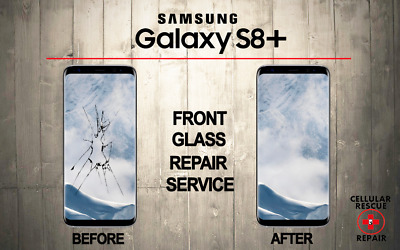 Samsung Galaxy S8+ plus Cracked Front Glass Repair Replacement Mail In Service