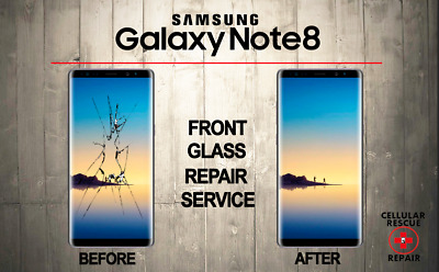 Samsung Galaxy Note 8 Cracked Front Glass Repair Replacement Mail In Service
