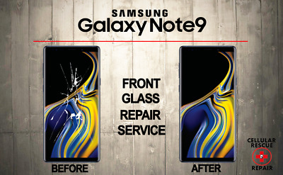 Samsung Galaxy Note 9 Cracked Front Glass Repair Replacement Mail In Service