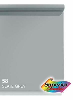 Superior Seamless Photography Background Paper, 58 Slate Grey