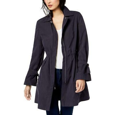 Kenneth Cole New York Womens Gray Spring Trench Coat Outerwear XXS BHFO 3867