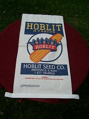 1 Hoblit Hybrids Paper Corn Seed Bag, Unused, Arenzville, IL, Small Bag