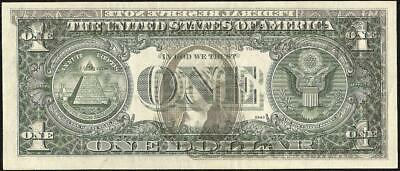 1977 A $1 Dollar Bill Offset Print Error Note Currency Paper Money
